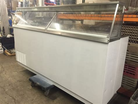 used ice cream dipping cabinet used kelvinator kdc87 87 inch white ice cream dipping cabinet