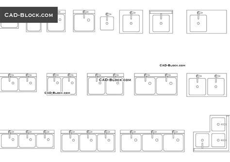 kitchen sink cad block free commercial sink autocad blocks free