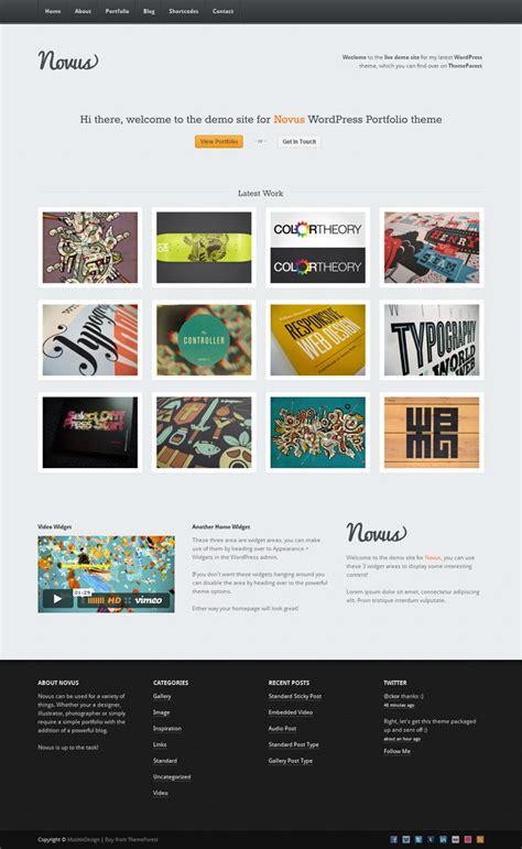 wordpress portfolio novus portfolio by rocketshipthemes themeforest