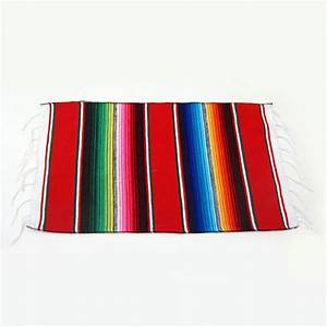 Authentic Mexican Striped Serape Placemat Fiesta Theme