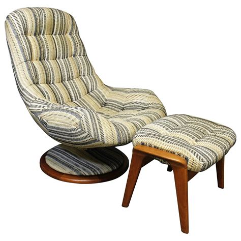 swivel lounge chair and ottoman r huber danish modern style teak swivel lounge chair and