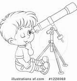 Telescope Clipart Coloring Rf Illustration Pages Royalty Clipartpanda Bannykh Alex Getdrawings sketch template
