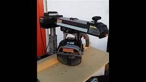 Craftsman Professional 10 U0026quot  Radial Arm Saw Demonstration