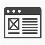 Template Website Icon Web Management Interface Site