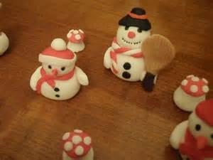 Decoration Buche De Noel Comestible : d corations de no l en p te sucre les g teaux de maya ~ Melissatoandfro.com Idées de Décoration