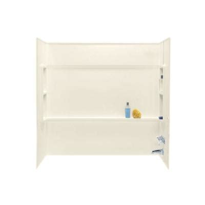 home depot direct catalog swan 30 in x 60 in x 59 5 in 3 piece direct to stud bathtub alcove walls in bone ba 3060 037