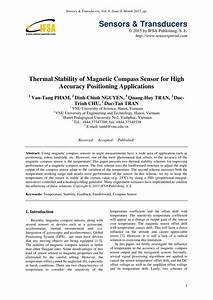 Pdf  Thermal Stability Of Magnetic Compass Sensor For