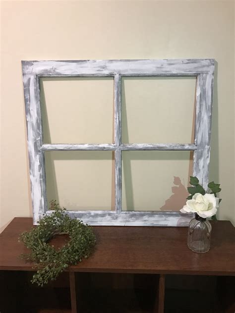 Farmhouse décor often stems from antique furniture and used accessories, so if you have some old drawers in your home, you can create a shelf for your porch where you can 71. Distressed Window Frame, 4 Pane or 6 Pane Vintage Farmhouse Window Pan - Bellewood Designs
