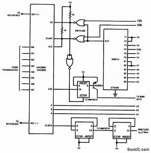 8080 8224 8228 Interrupt Type Interface For A D Converter - Basic Circuit