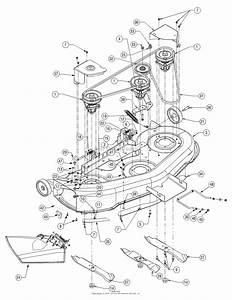 Mtd 14az818h705  2004  Parts Diagram For Deck Assembly Single Belt