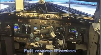 Robot Land Passenger Landing Cockpit Aircrew Simulator