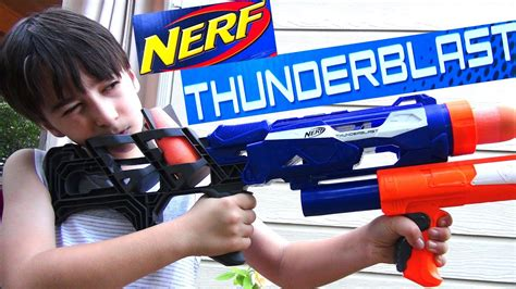 Used various hooks, wood screws, and nails to mount the guns. Robert-Andre's Nerf N-Strike Thunderblast Launcher! - YouTube