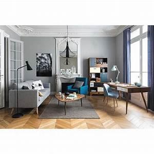 Canapé Vintage Maison Du Monde : canap 3 places en tissu gris clair brooke maisons du monde home sweet home pinterest ~ Nature-et-papiers.com Idées de Décoration