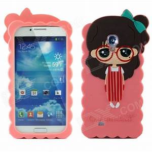 Cute 3D Girl Style Protective Silicone Back Case for ...