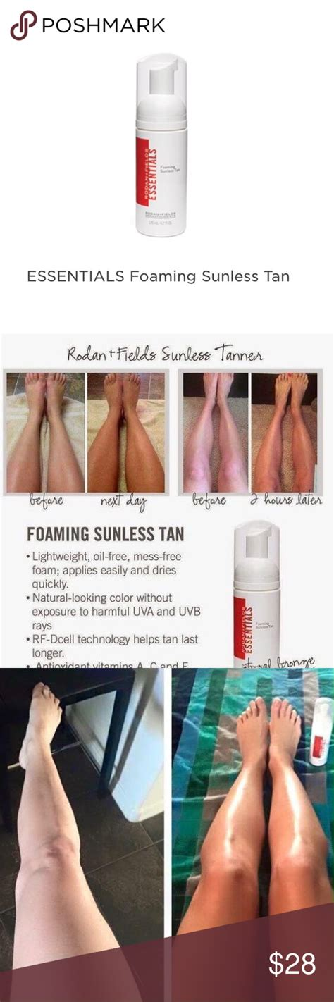 rodan  fields foaming sunless tanner show    natural  tan  exposing