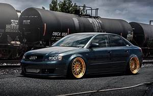 Download Wallpapers Audi A4  4k  Tuning  B4  Stance  Black