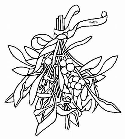 Clipart Mistletoe Coloring Oklahoma Clip States Phillip