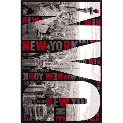 tapis moderne argent 233 pour chambre new york pas cher tapis deco fr