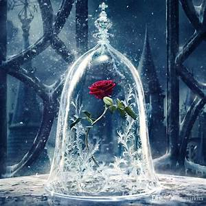 2018 Beauty And The Beast Enchanted Rose Glass Dome 10 ...