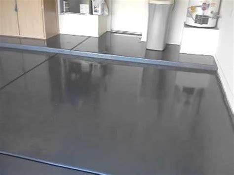 Gray Epoxy Floor Coating in Sun Lakes   YouTube