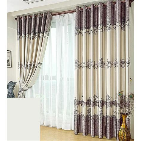 gray floral curtains country style purlish grey floral curtain panels