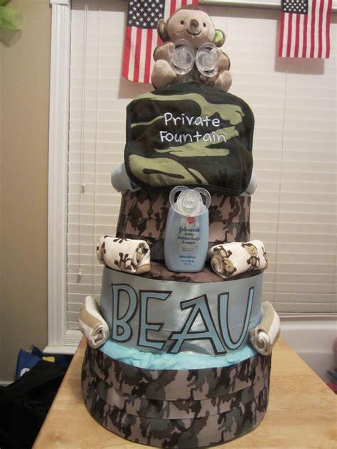 army camo  tier diaper cake crafts   pinterest