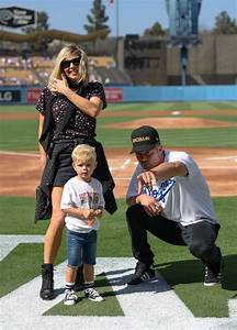 Fergie, Josh Duhamel, and Axl at Dodgers Game August 2016 ...
