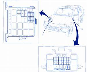 Isuzu Rodeo Ls 1999 Underhood Fuse Box  Block Circuit Breaker Diagram  U00bb Carfusebox