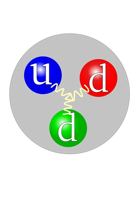 Protons Neutrons by Gluon Simple The Free Encyclopedia