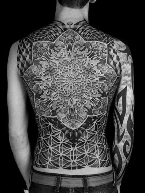 80 Fractal Tattoo Designs For Men - Repeating Geometry Ink Ideas