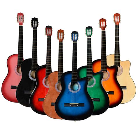 guitar colors new 8 different color 38 inch cutaway acoustic guitar set