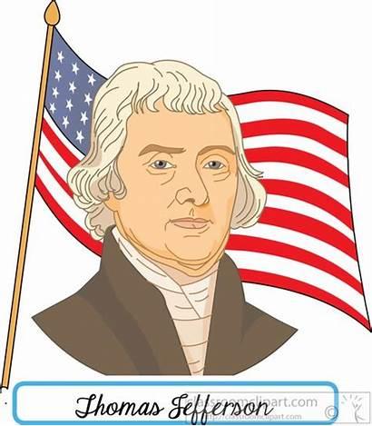 Jefferson Thomas Clipart President Flag Clip Presidents