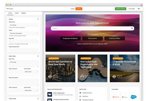great intranet homepage axero solutions