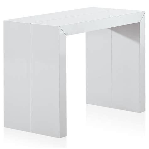 console extensible laquee blanc console extensible laqu 233 e blanc 50 224 250 cm 12 personnes lestendances fr