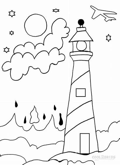 Coloring Lighthouse Pages Drawing Lighthouses Hatteras Cape