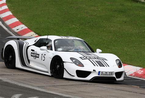 porsche racing colors spyshots porsche 918 spyder in martini racing stripes