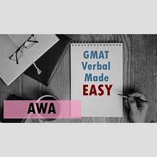 Gmat Verbal Made Easy  Awa Youtube