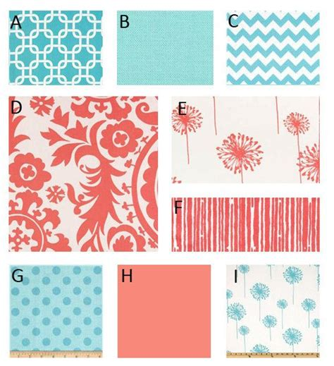 coral and aqua crib bedding 17 best images about s nursery on