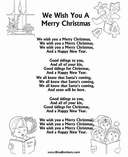 Lyrics Christmas Song Merry Printable Songs Carol