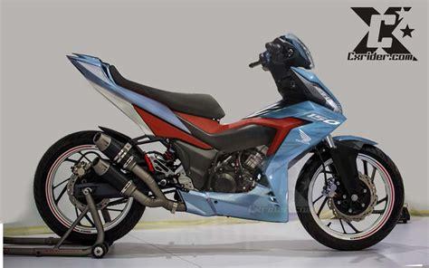 jual motor honda supra modifikasi honda supra gtr 150 racing blue cxrider