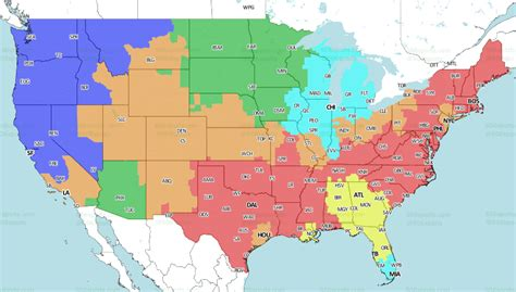 cardinals  vikings tv coverage map