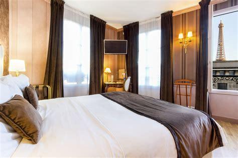 chambre de luxe avec vue hotel eiffel trocadero
