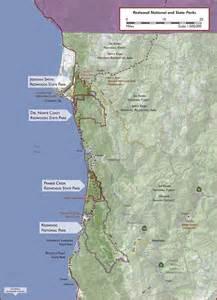Redwood Forest National Park Map