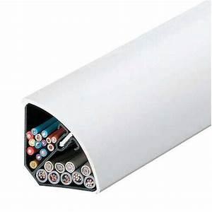 Baguette Pour Cable Electrique : moulure blanc h 4 x p 4 cm leroy merlin ~ Premium-room.com Idées de Décoration