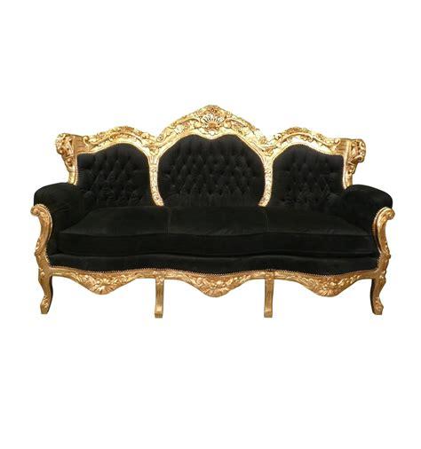 Divani Barocco Divano Stile Barocco Nero E Oro