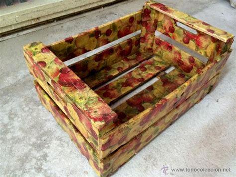 antigua caja de frutas decorada con manzanas y comprar cajas antiguas en todocoleccion 43096080