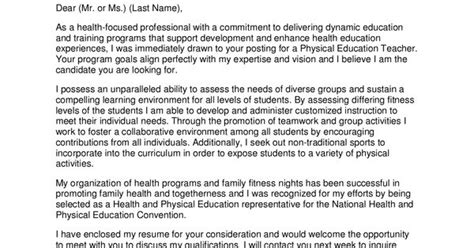 professional teacher cover letter physical education teacher cover letterpng cover letters