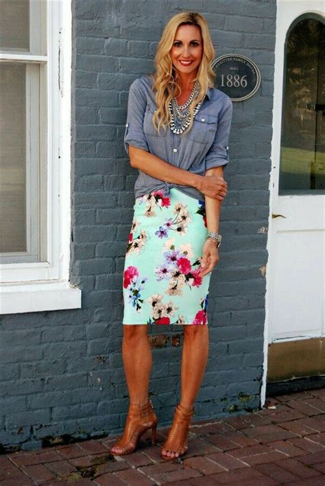 Floral Cassie with a chambray shirt | LuLaRoe Clothing | Pinterest | Facebook A unicorn and ...