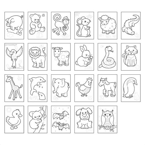 coloring pictures of animals animals colouring book