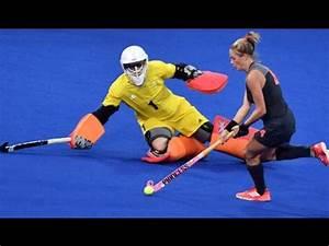 Field hockey best female goalkeeper saves - YouTube